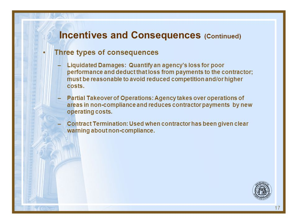 Incentives and Consequences (Continued)