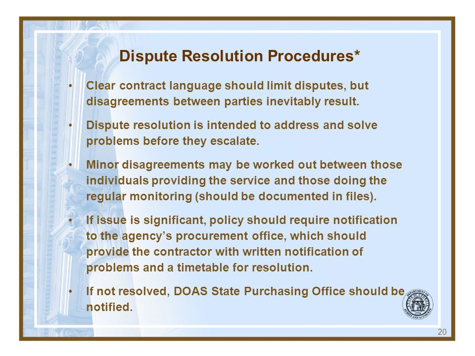 Dispute Resolution Procedures*