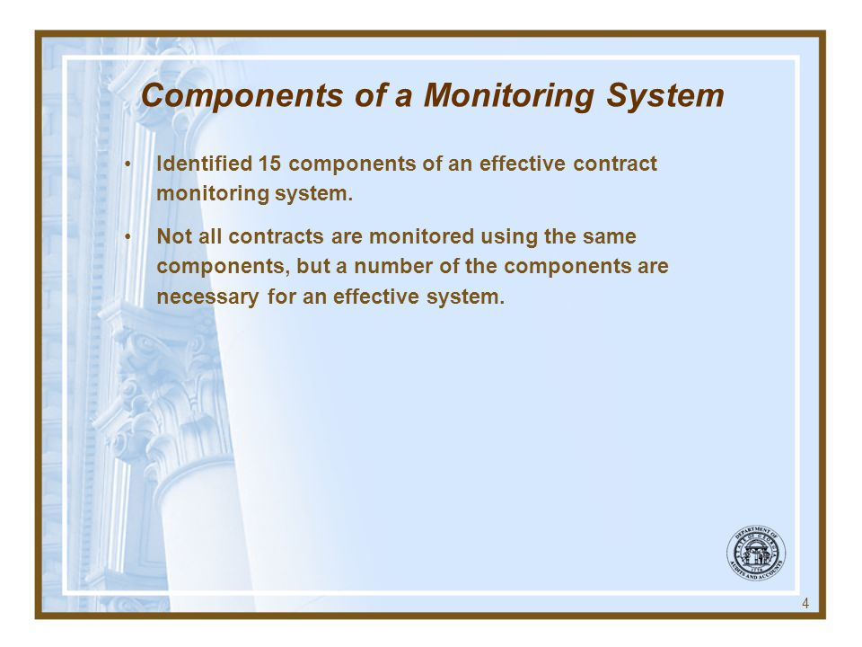 Components of a Monitoring System