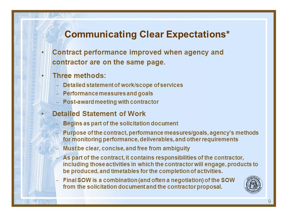 Communicating Clear Expectations*