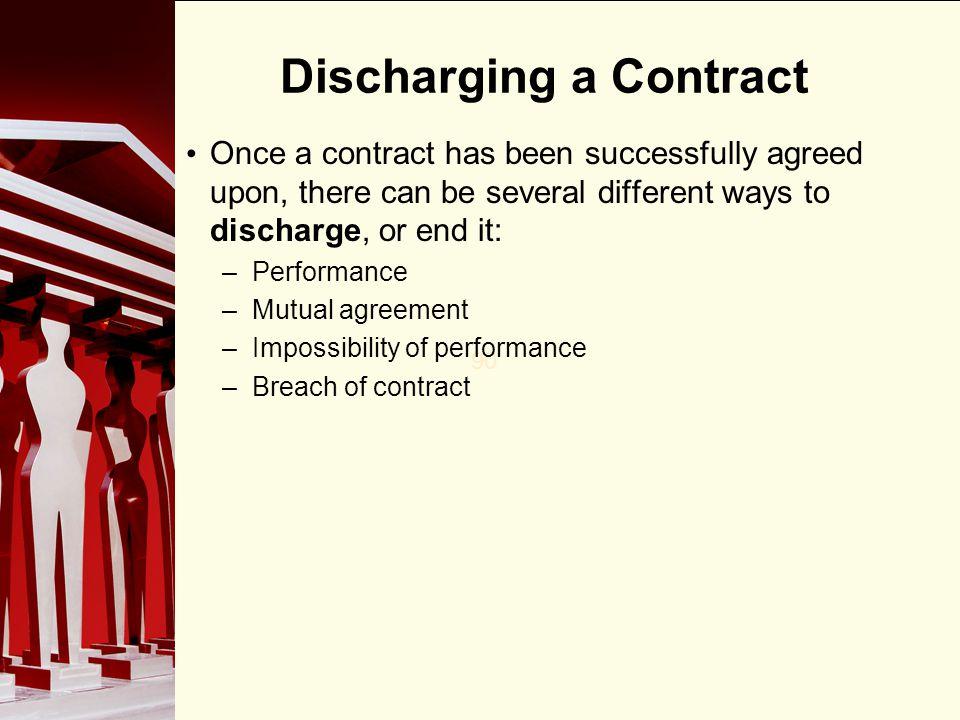 Discharging a Contract