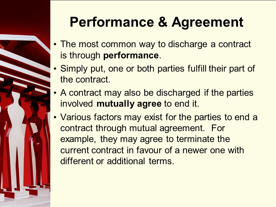 Performance & Agreement
