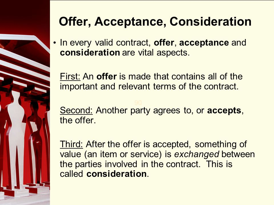 Chapter  Elements Of A Contract  Ppt Video Online Download