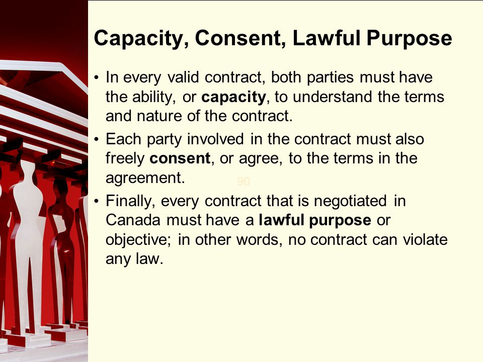 Capacity, Consent, Lawful Purpose