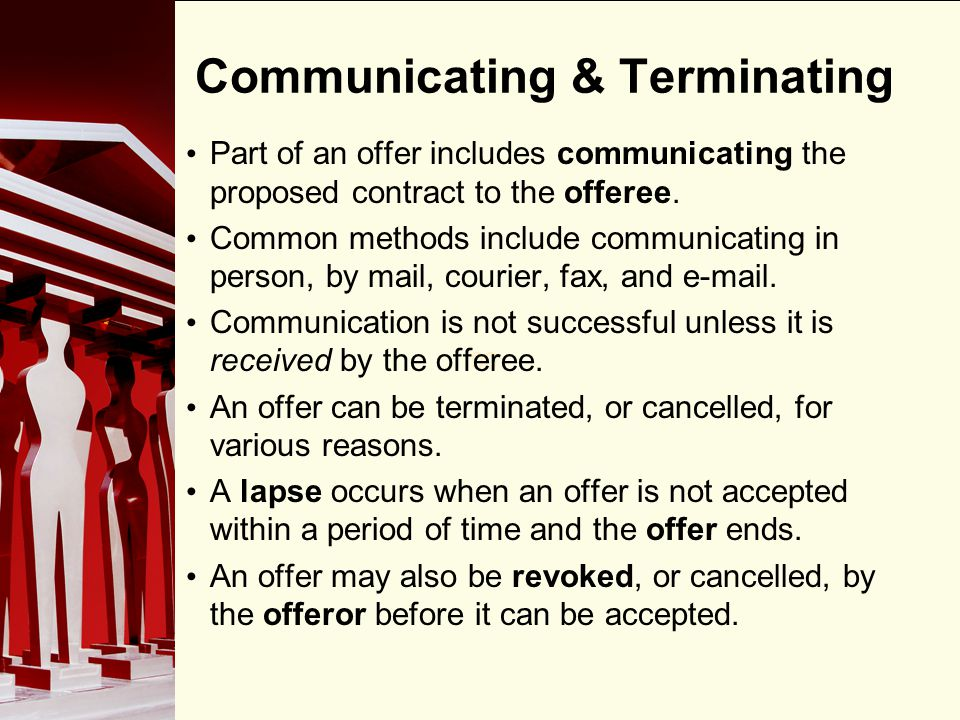 Communicating & Terminating