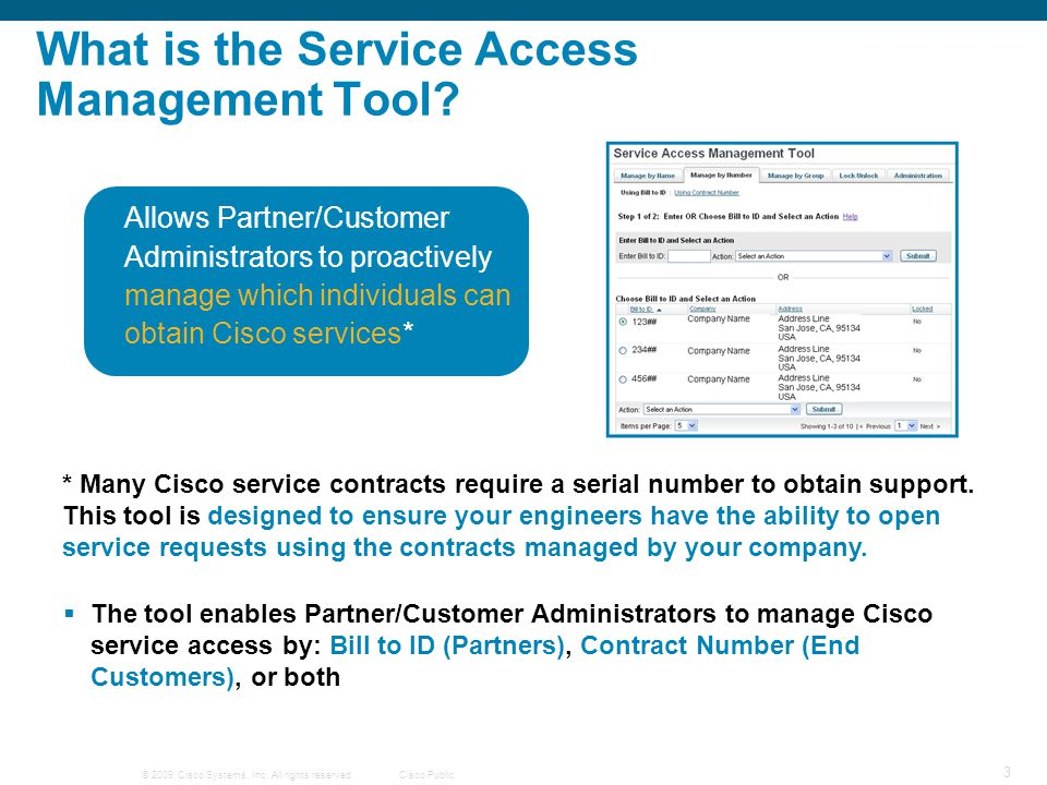 What is the Service Access Management Tool