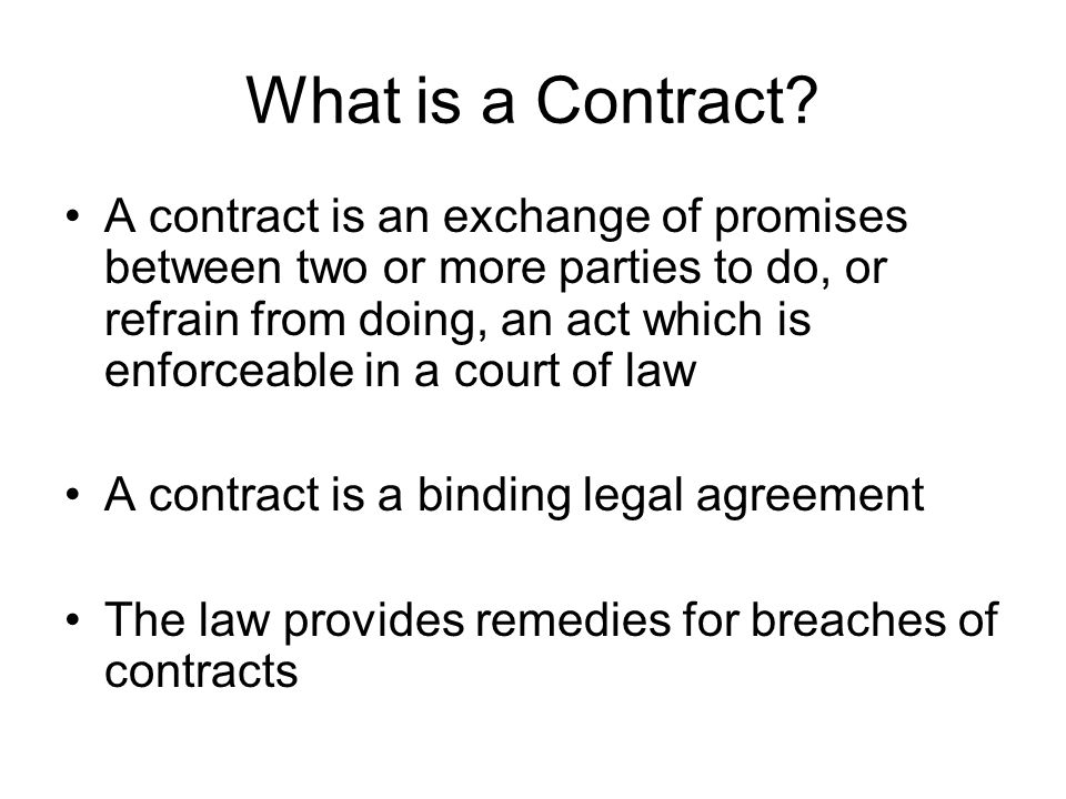 What is a Contract
