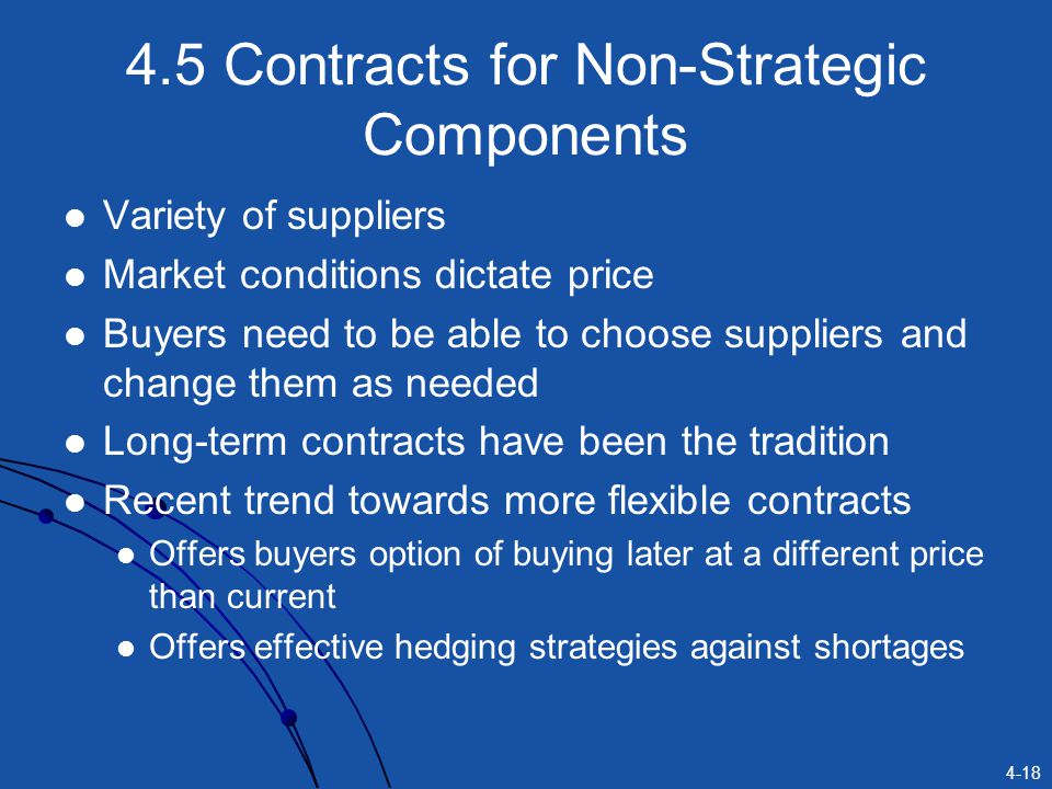 4.5 Contracts for Non-Strategic Components