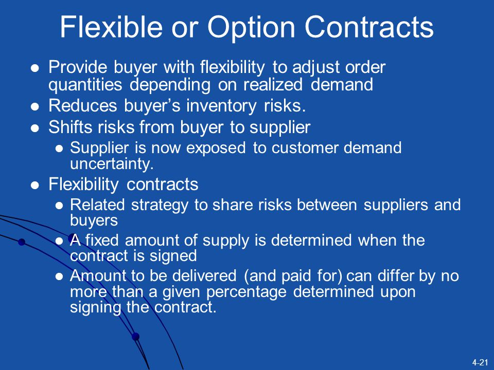 Flexible or Option Contracts