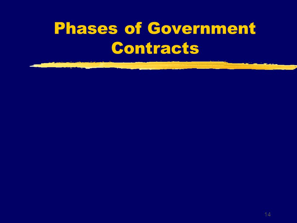 Phases of Government Contracts