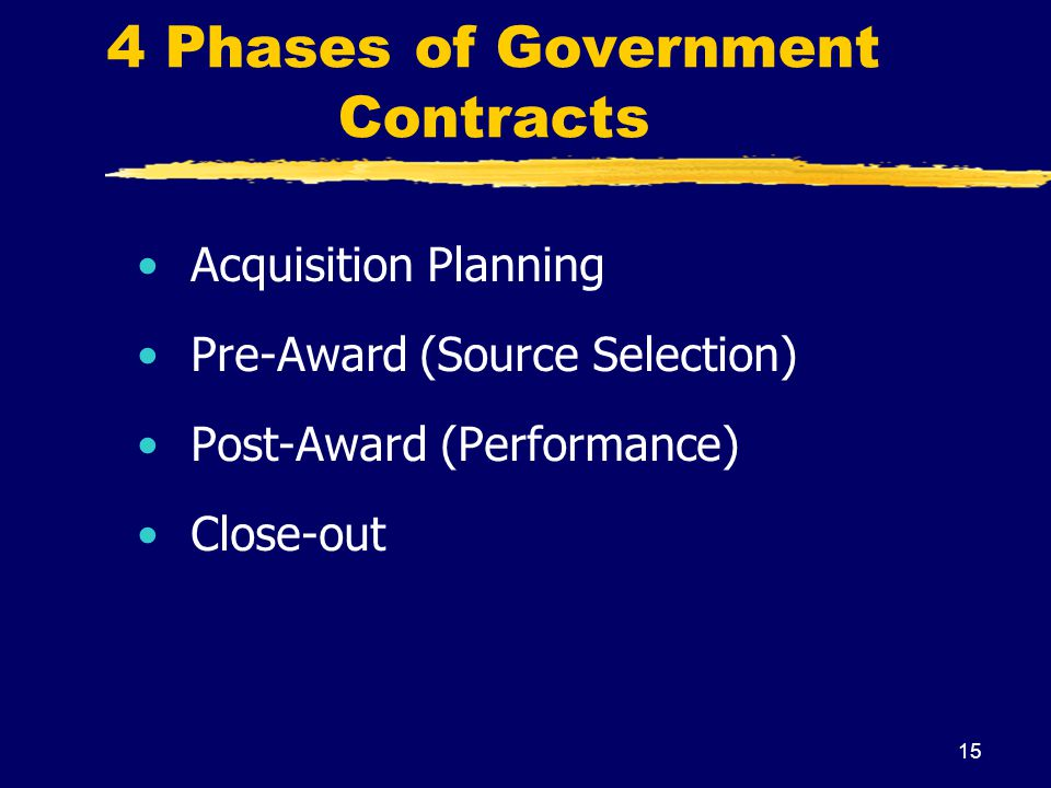 4 Phases of Government Contracts