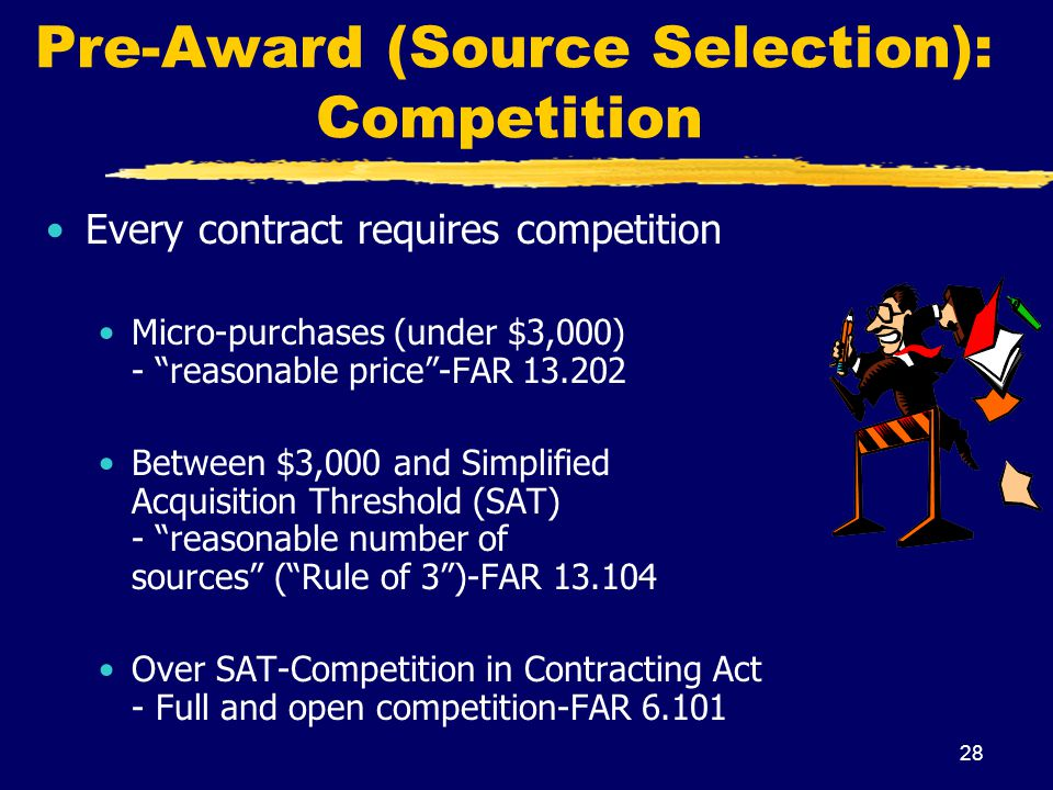 Pre-Award (Source Selection): Competition