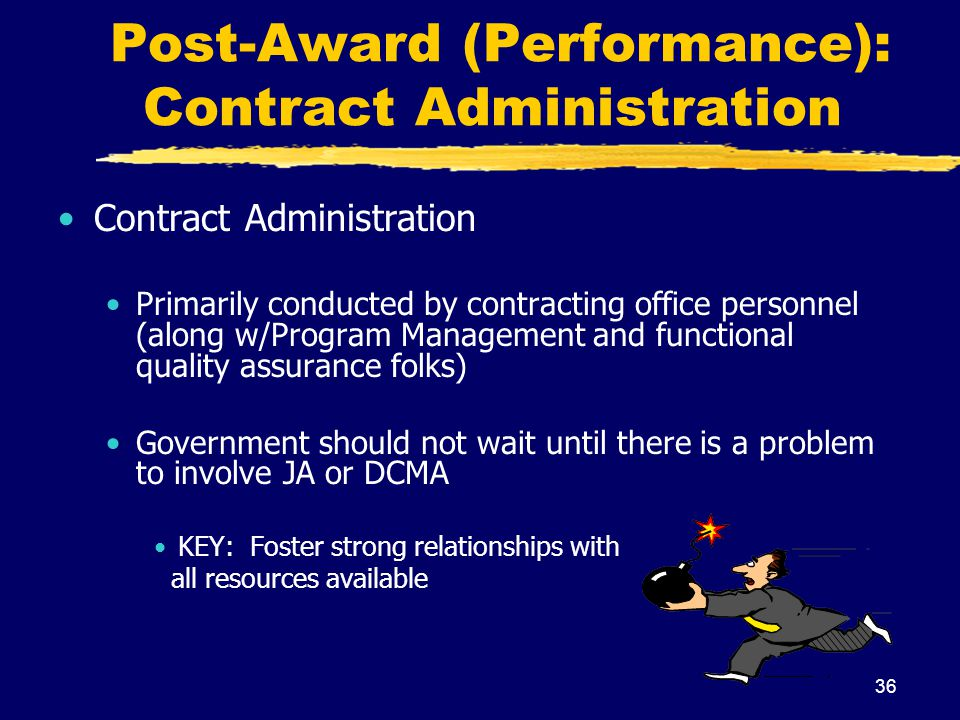 Post-Award (Performance): Contract Administration