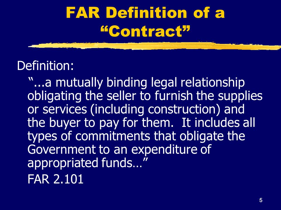 FAR Definition of a Contract