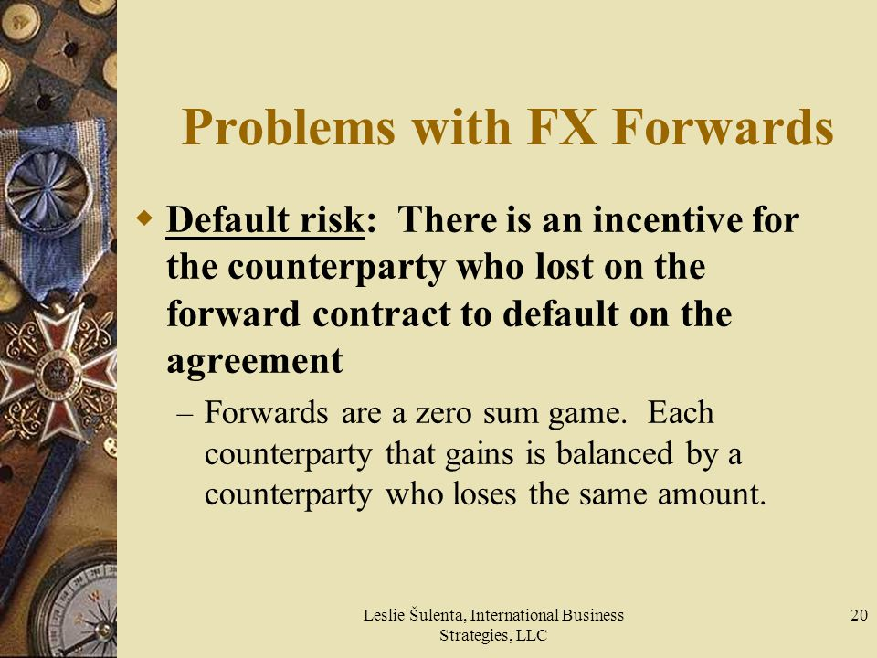 Problems with FX Forwards