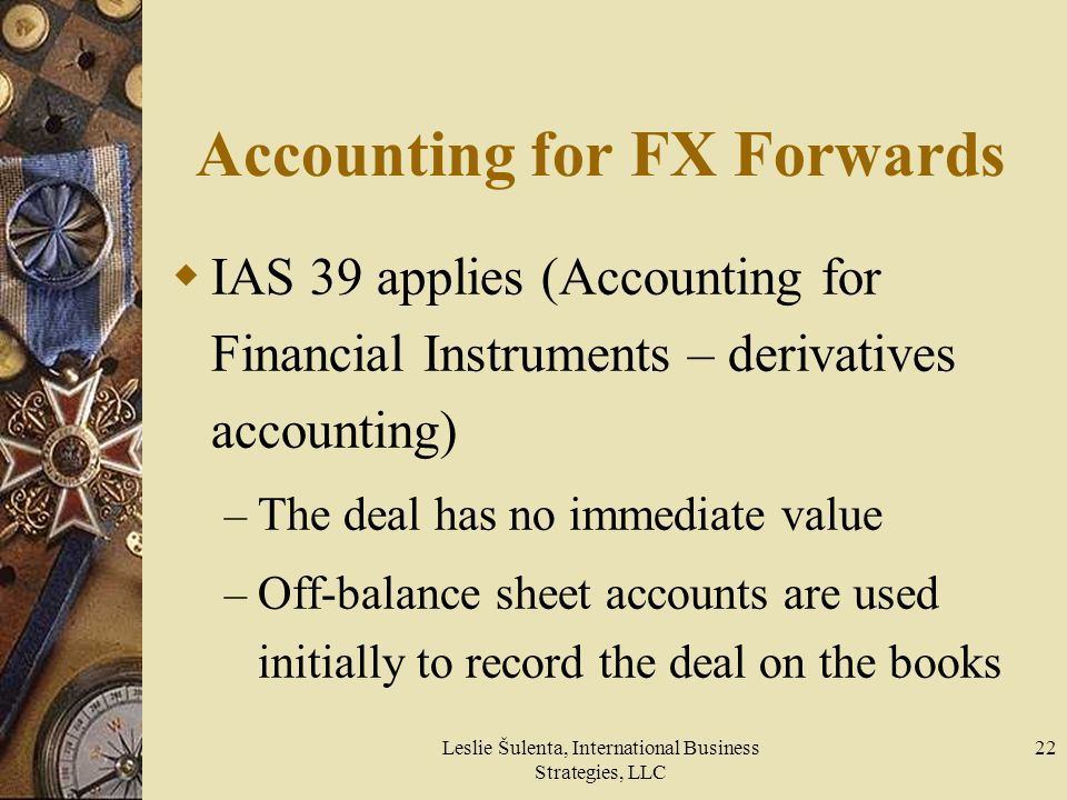 Accounting for FX Forwards