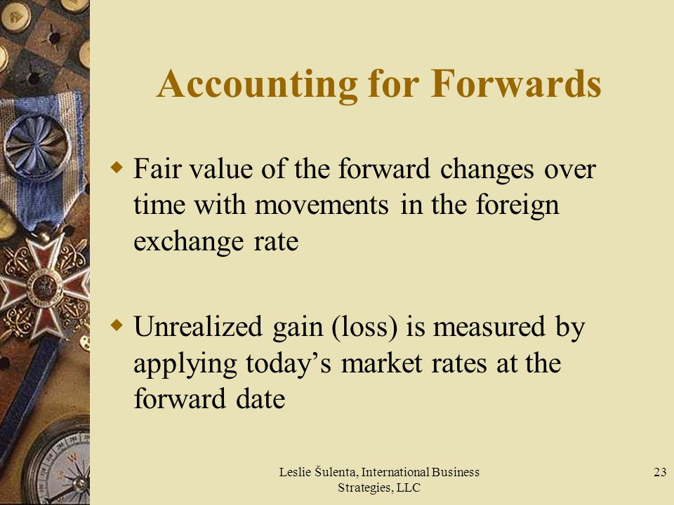 Accounting for Forwards
