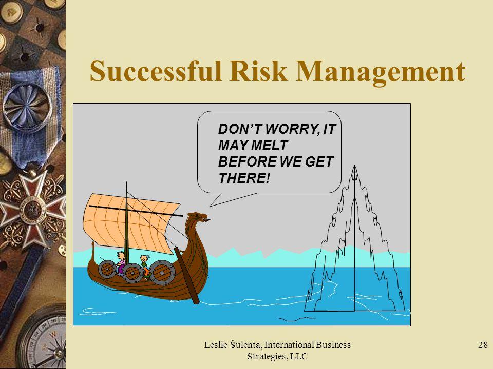Successful Risk Management