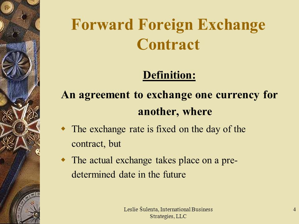 Forward Foreign Exchange Contract