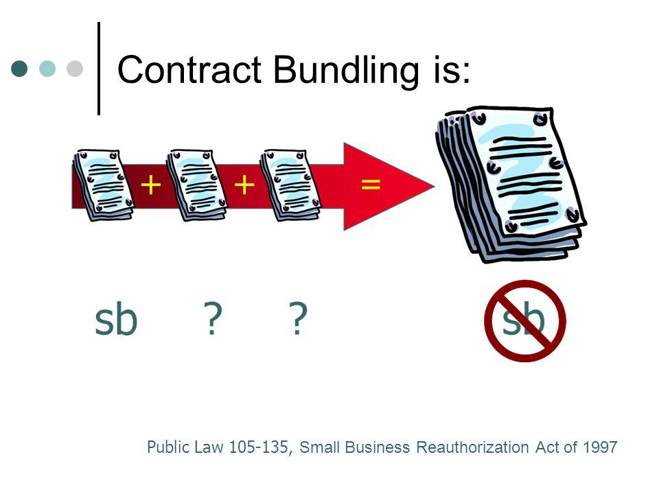 Contract Bundling is: