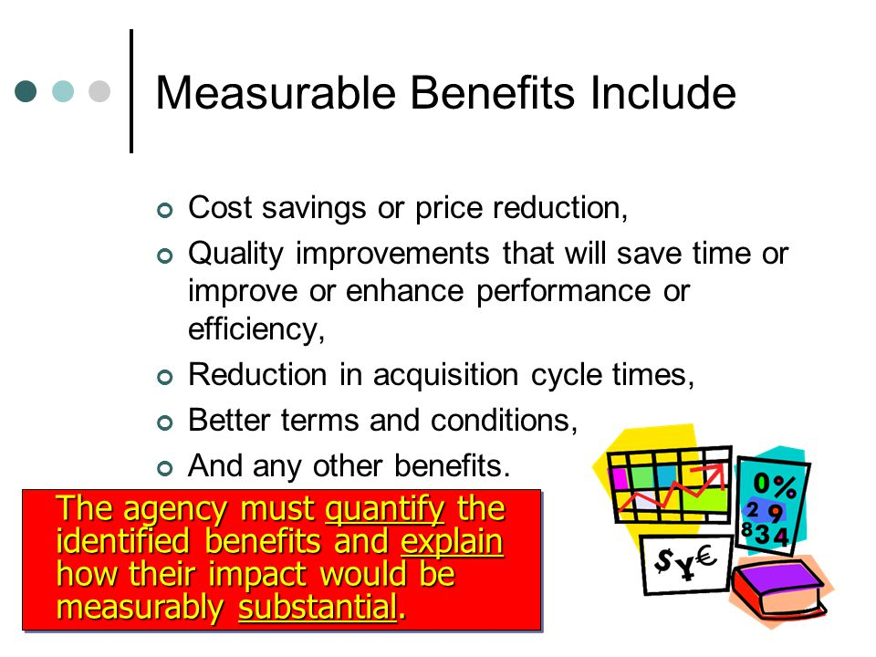 Measurable Benefits Include