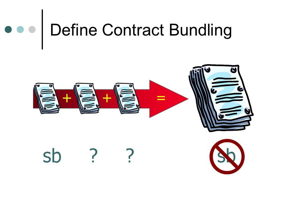 Define Contract Bundling