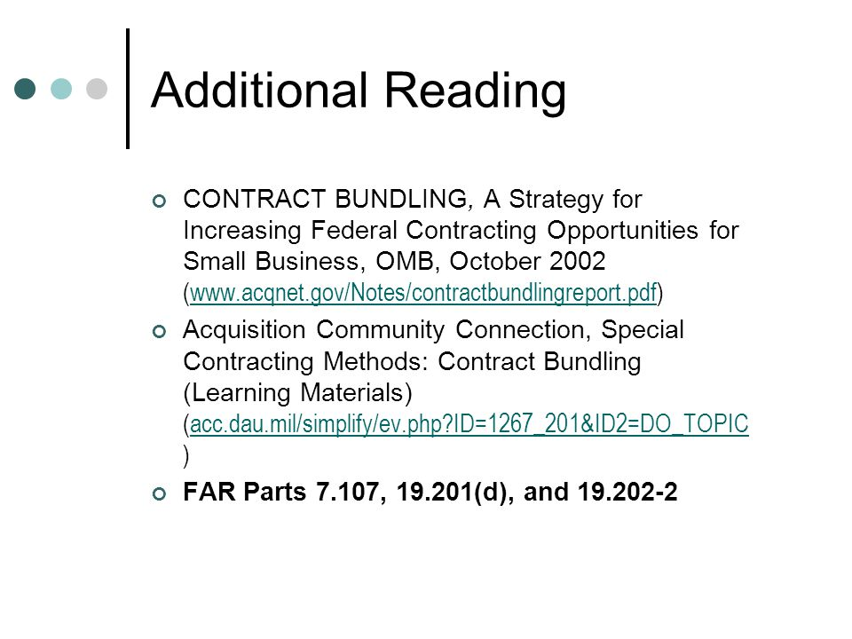 Additional Reading