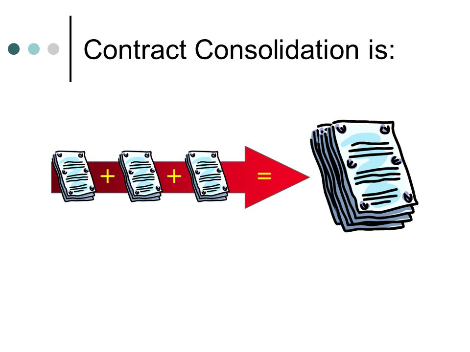 Contract Consolidation is: