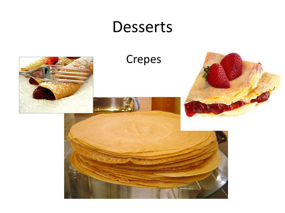 Desserts Crepes