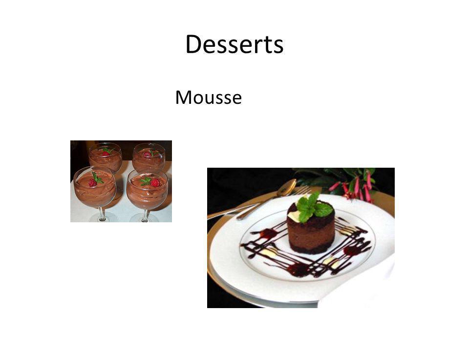 Desserts Mousse