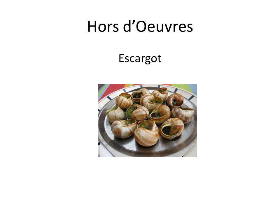 Hors d'Oeuvres Escargot