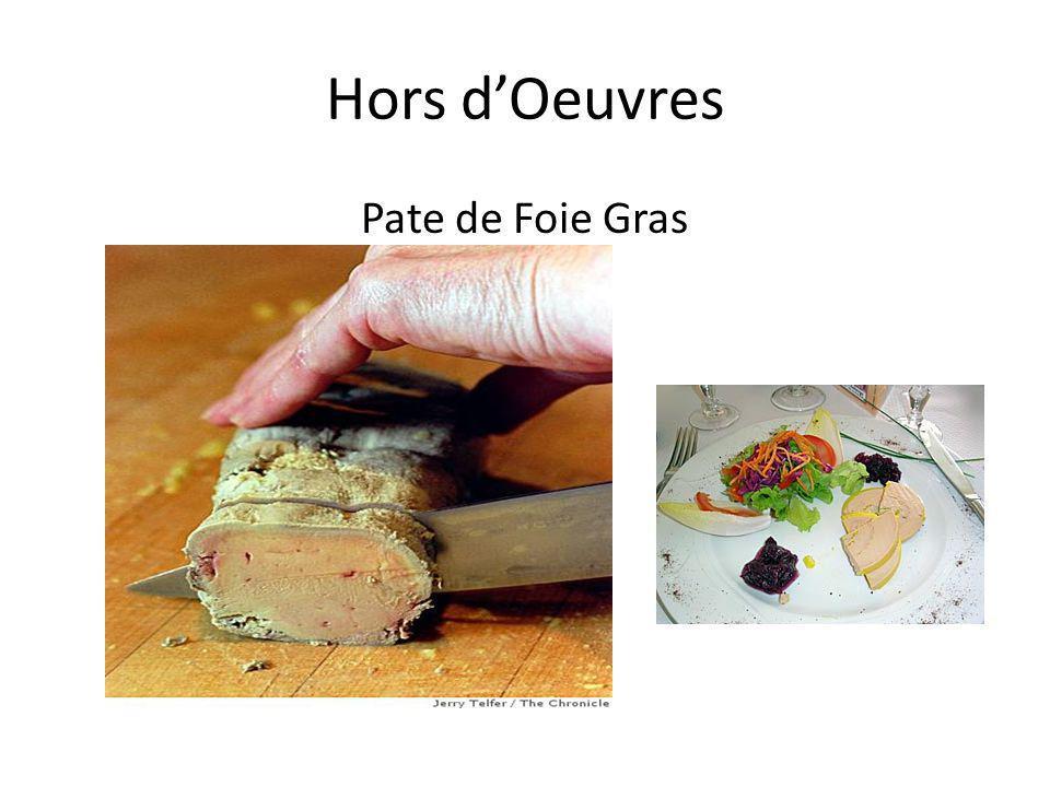 Hors d'Oeuvres Pate de Foie Gras