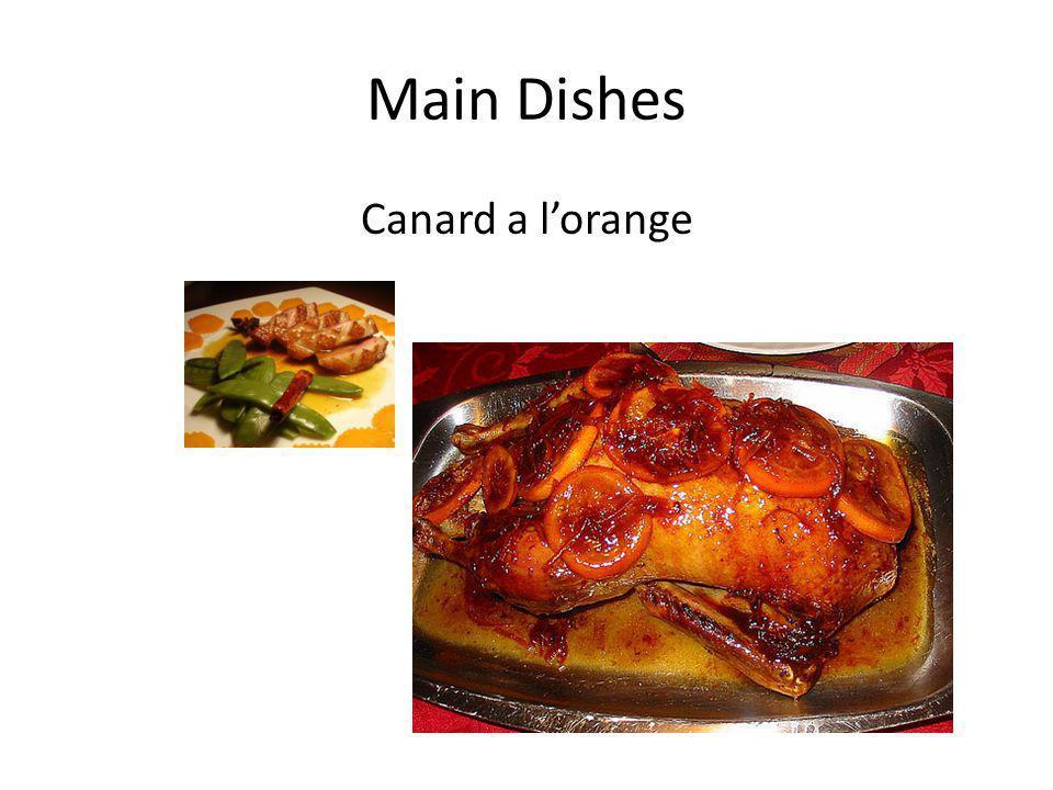 Main Dishes Canard a l'orange