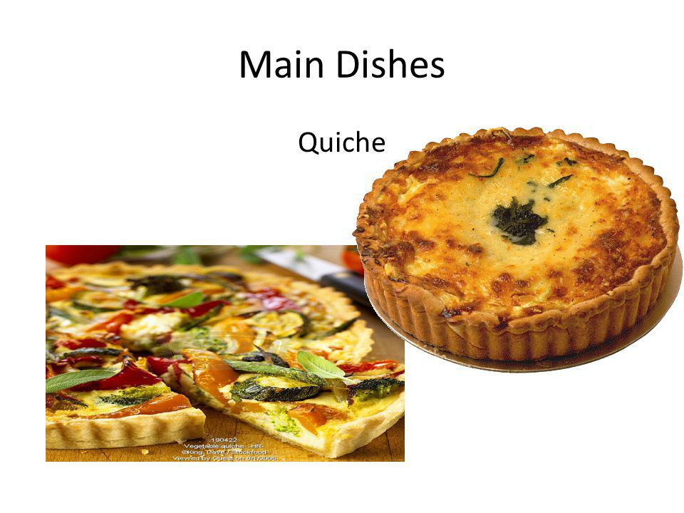 Main Dishes Quiche