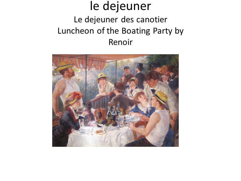 le dejeuner Le dejeuner des canotier Luncheon of the Boating Party by Renoir