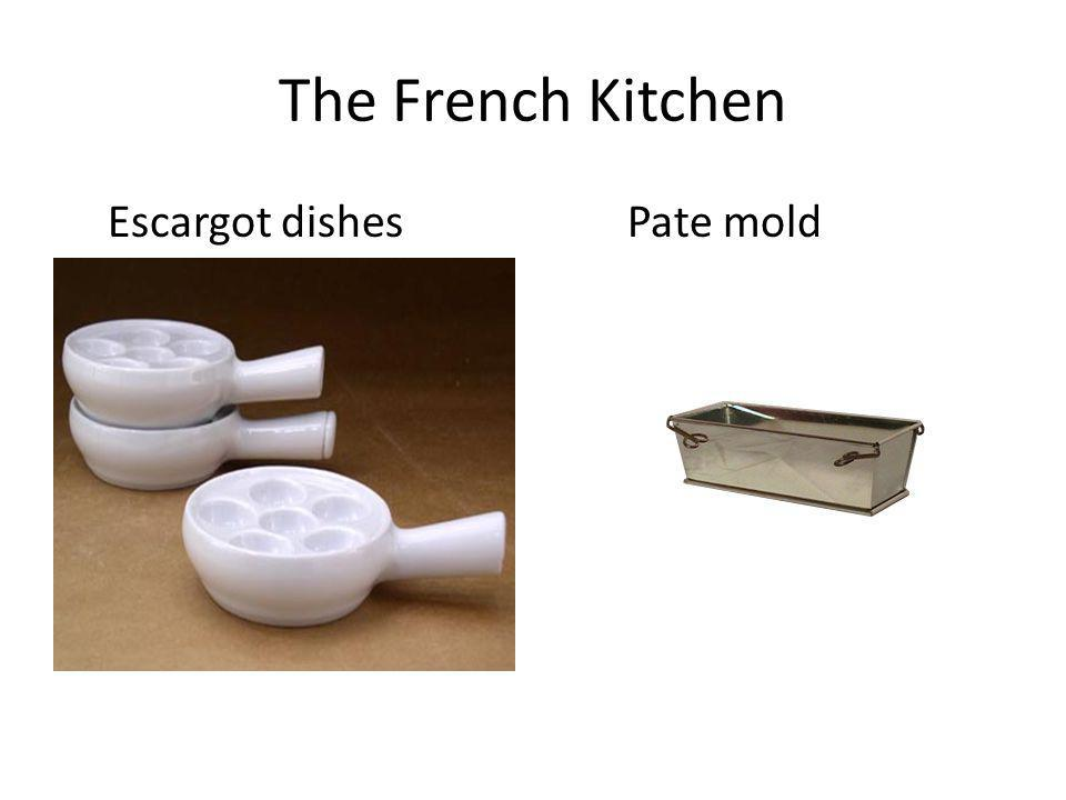 The French Kitchen Escargot dishes Pate mold