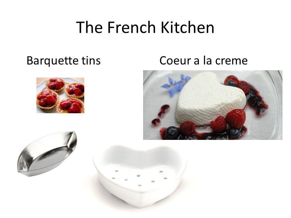 The French Kitchen Barquette tins Coeur a la creme