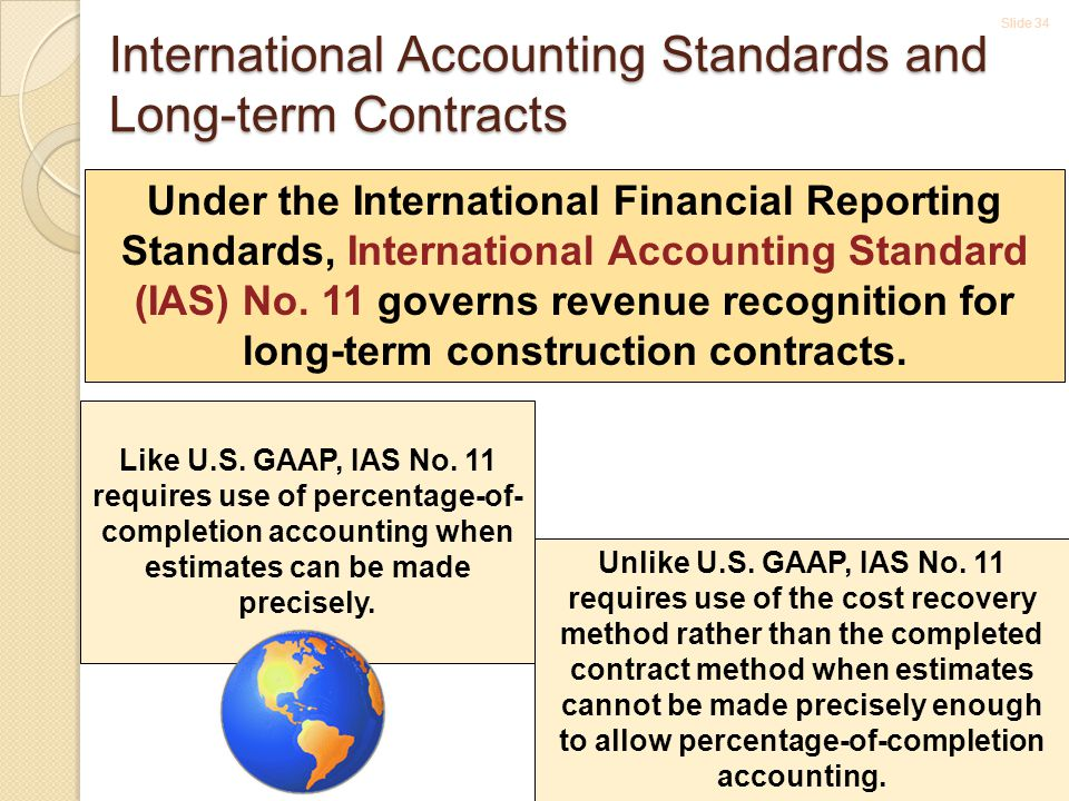 International Accounting Standards and Long-term Contracts