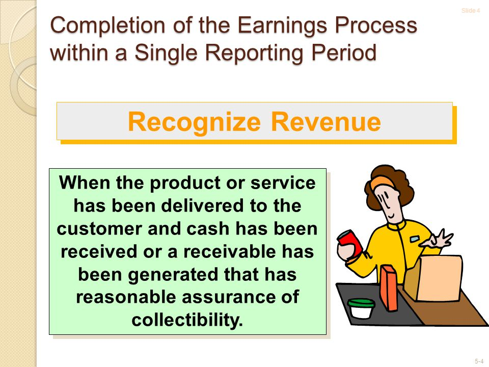 Completion of the Earnings Process within a Single Reporting Period