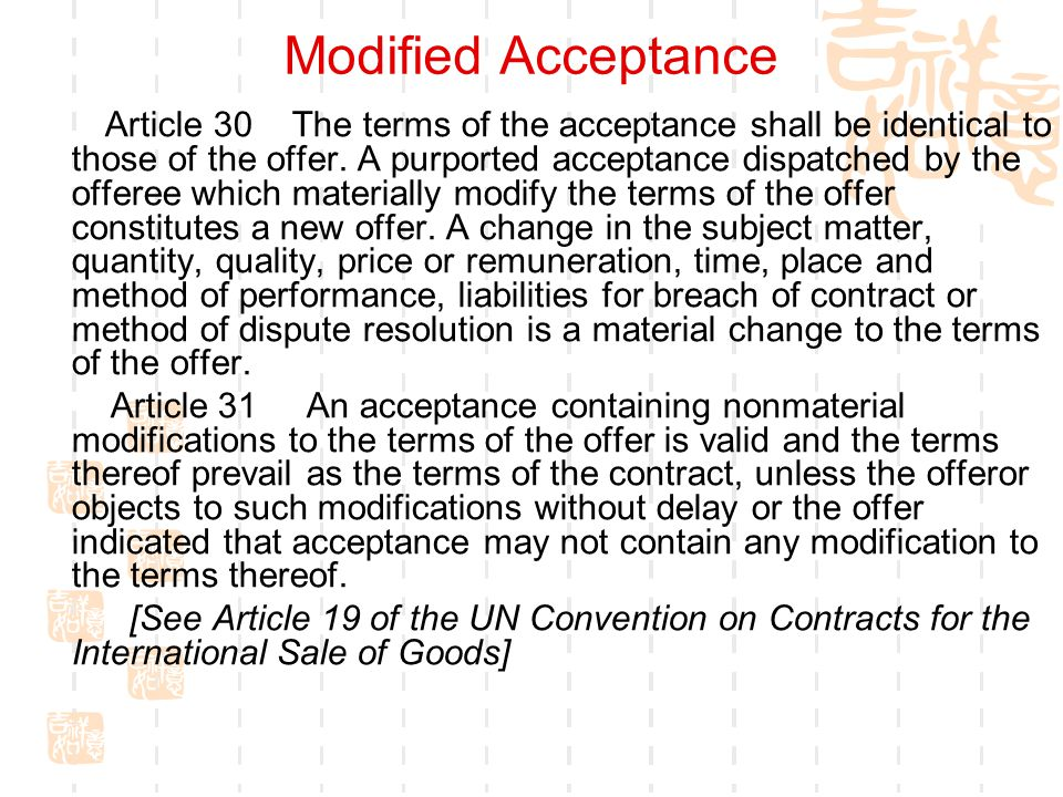 Modified Acceptance