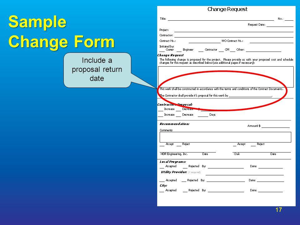 Include a proposal return date