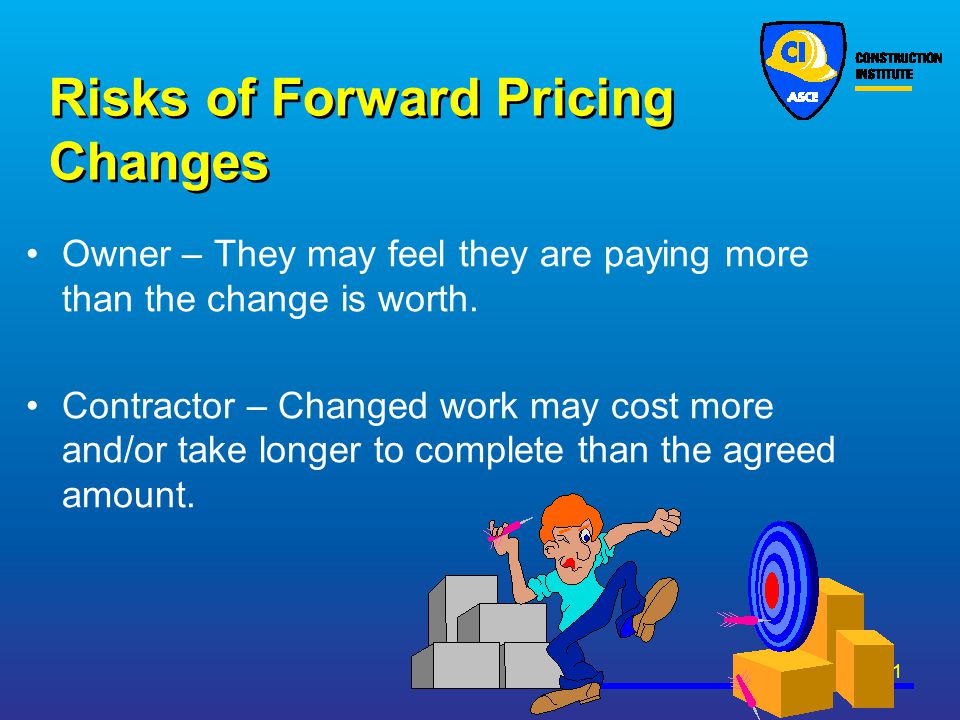 Risks of Forward Pricing Changes