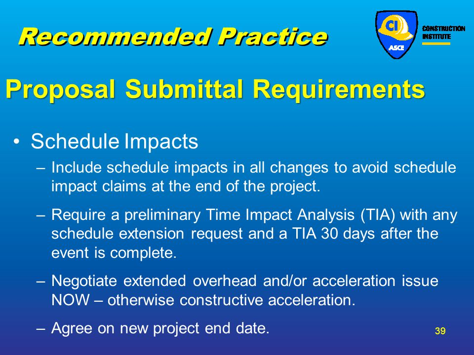 Proposal Submittal Requirements