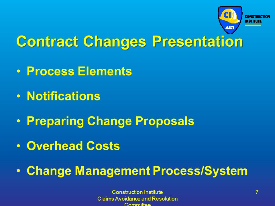 Contract Changes Presentation