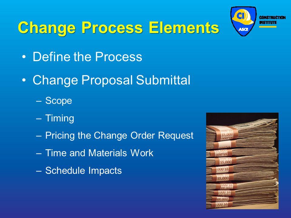 Change Process Elements