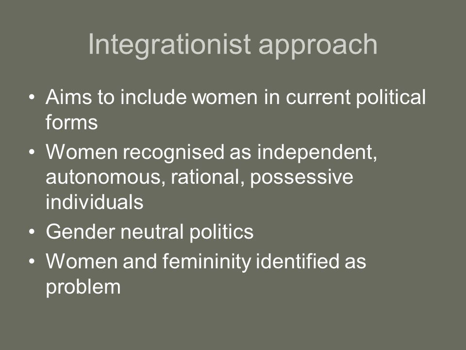 Integrationist approach