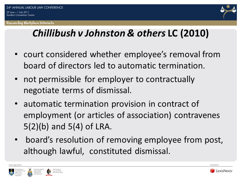 Chillibush v Johnston & others LC (2010)