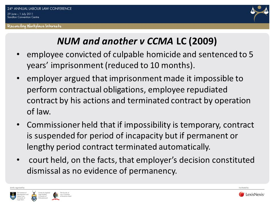 NUM and another v CCMA LC (2009)