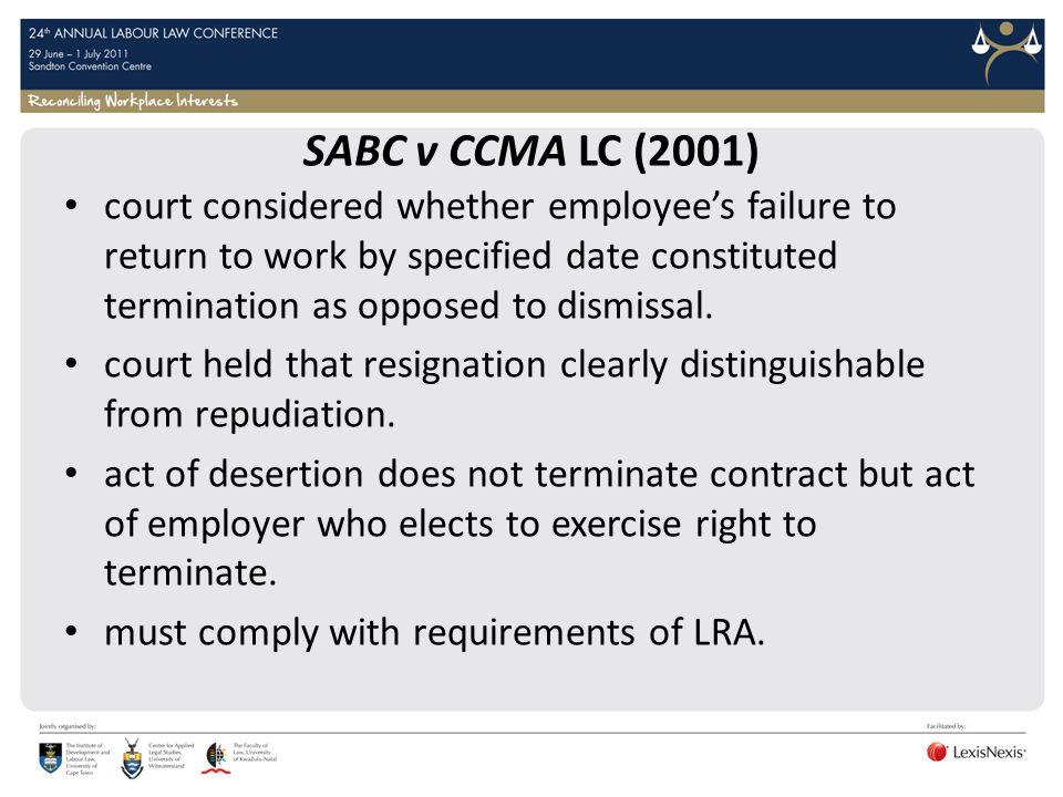 SABC v CCMA LC (2001)