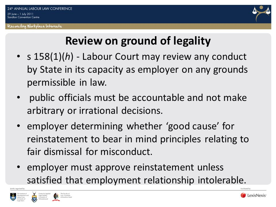 Review on ground of legality